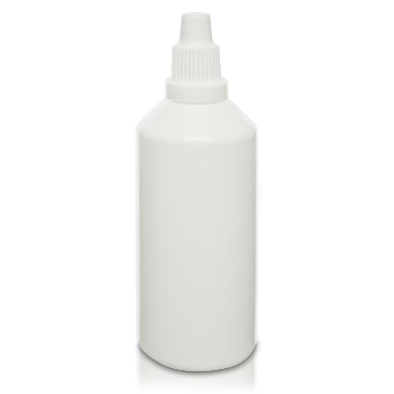 Butelka PE-HD 100 ml biała z dozownikiem
