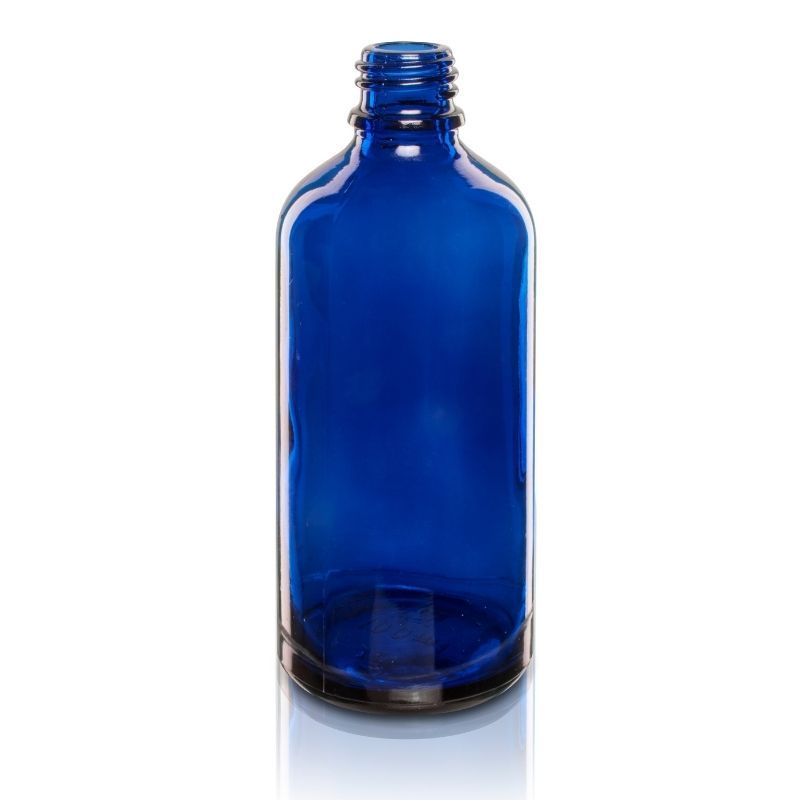Butelka szklana 100 ml 18/415 niebieska